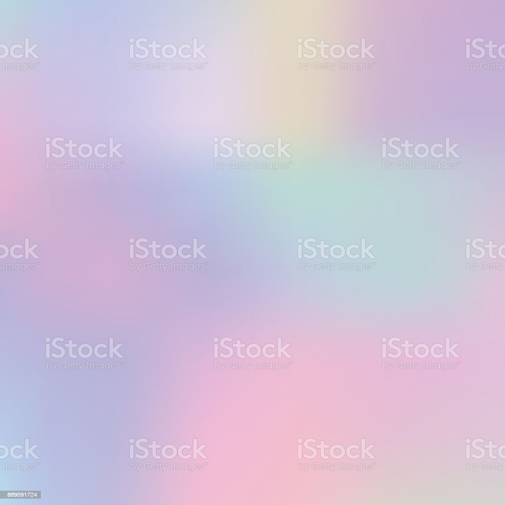 Abstract blurred pastel color holographic trendy background. vector art illustration