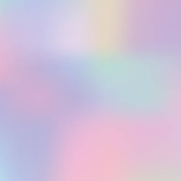 abstract blurred pastel color holographic trendy background. - pastel colored stock illustrations, clip art, cartoons, & icons