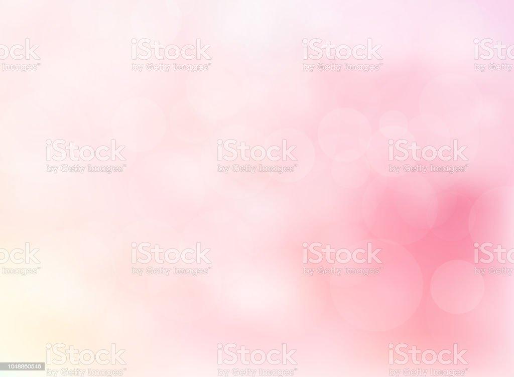 Bokeh abstraite flou flou de l'arrière-plan de couleur rose vif - Illustration vectorielle