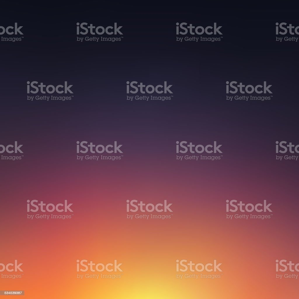 Abstract blurred sunset background vector art illustration