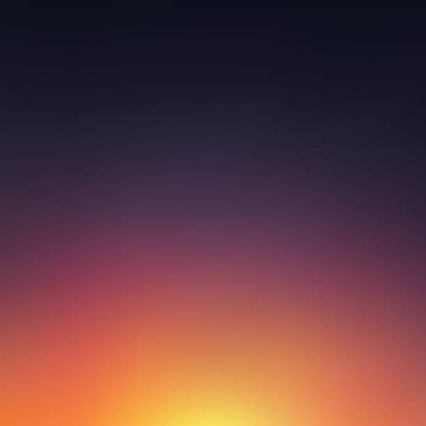 Abstrait arrière-plan flou du coucher de soleil - Illustration vectorielle