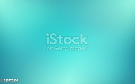 istock Abstract blurred turquoise background and gradient texture for your graphic design. Vector illustration. 1295775326