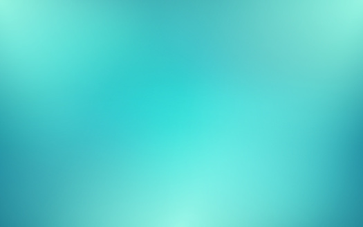 Abstract blurred turquoise background and gradient texture for your graphic design. Vector illustration.