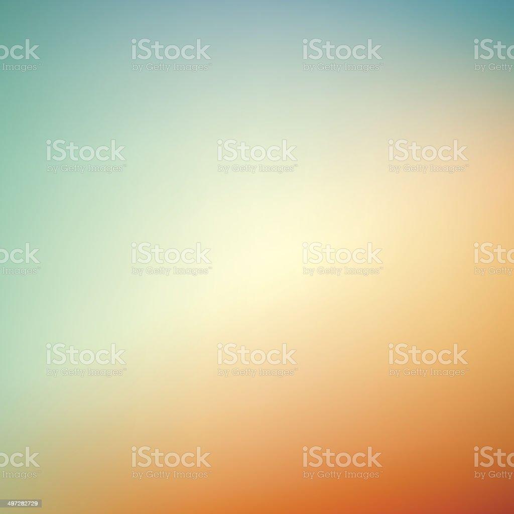 abstract blurry background, blue - orange vector art illustration