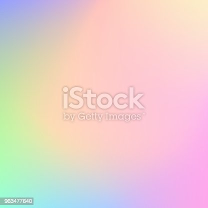 istock Abstract blurry pastel colored background 963477640