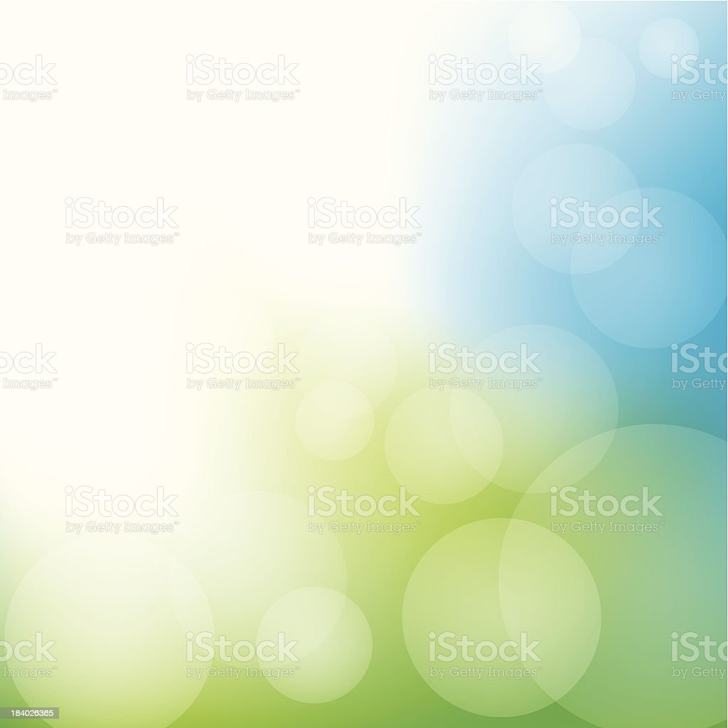 Abstract Bokeh Background vector art illustration