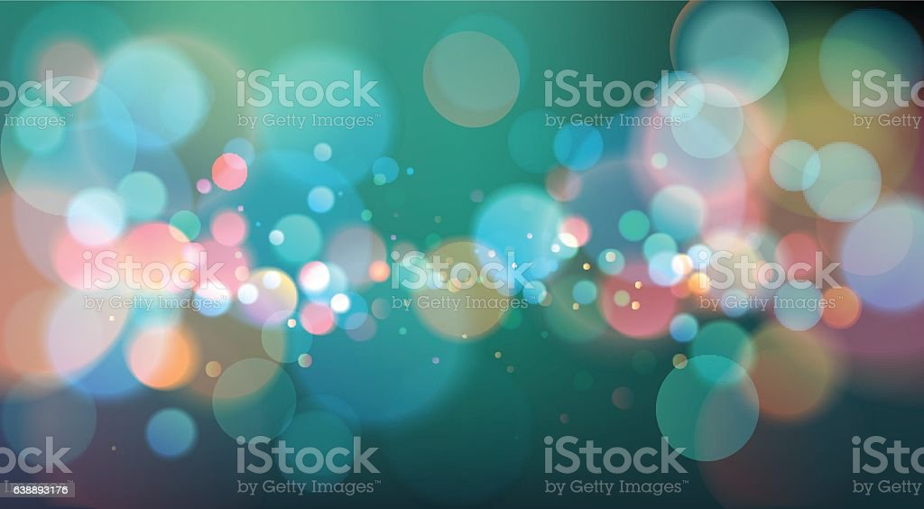 Abstract Bokeh Light Background, Vector Illustration - ilustración de arte vectorial