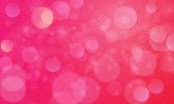 bildbanksillustrationer, clip art samt tecknat material och ikoner med abstrakt bokeh ljus effekt med rosa röd bakgrund, bokeh konsistens, bokeh bakgrund, vektor illustration för grafisk design - rosa bakgrund