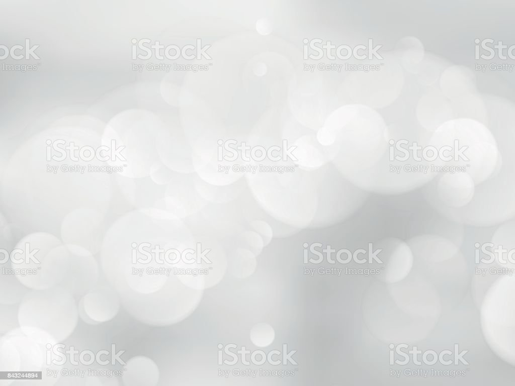 abstract bokeh silver background vector art illustration