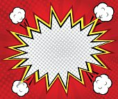 abstract boom blank speech bubble pop art, comic book on