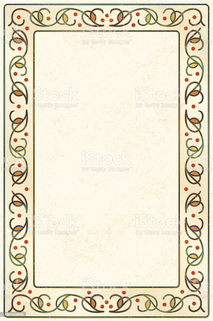 a vector abstract border, perhaps branches and berries, on beige...