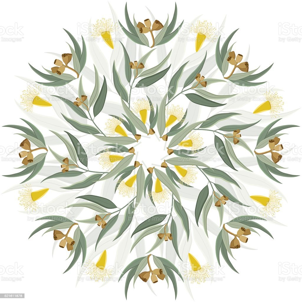 Abstract botanical nature ornament vector art illustration