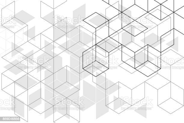 Abstracte Vakken Achtergrond Stockvectorkunst en meer beelden van Abstract