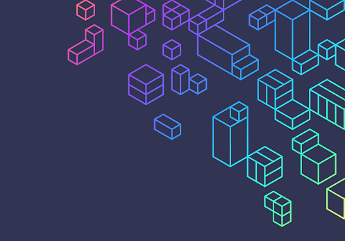 Abstract Boxes Cubes Background Design