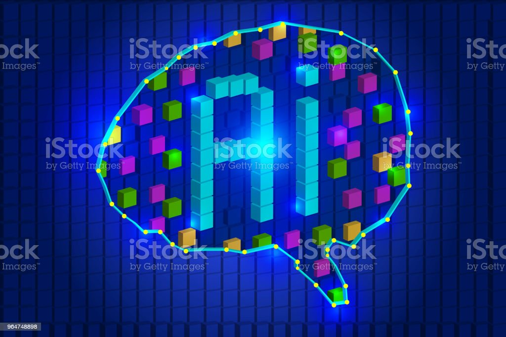Abstract brain, AI, artificial intelligence concept creative illustration royalty-free abstract brain ai artificial intelligence concept creative illustration stock vector art & more images of artificial intelligence