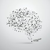 Abstract brain graphic
