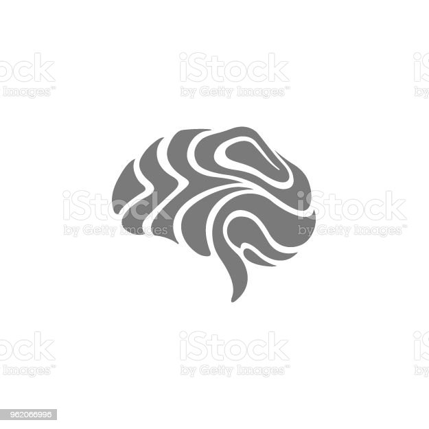 Abstract Brain Icon Symbol Template Knowledge Memory Stock Vector