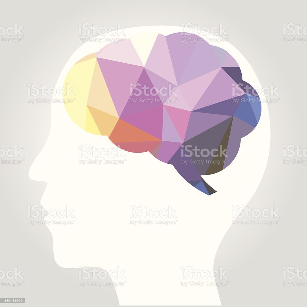 abstract brain vector art illustration