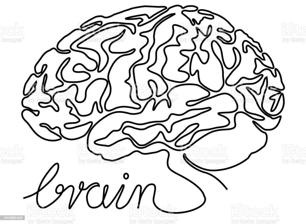 Abstract Brain Stock Vector Art More Images Of Abstract 944082454