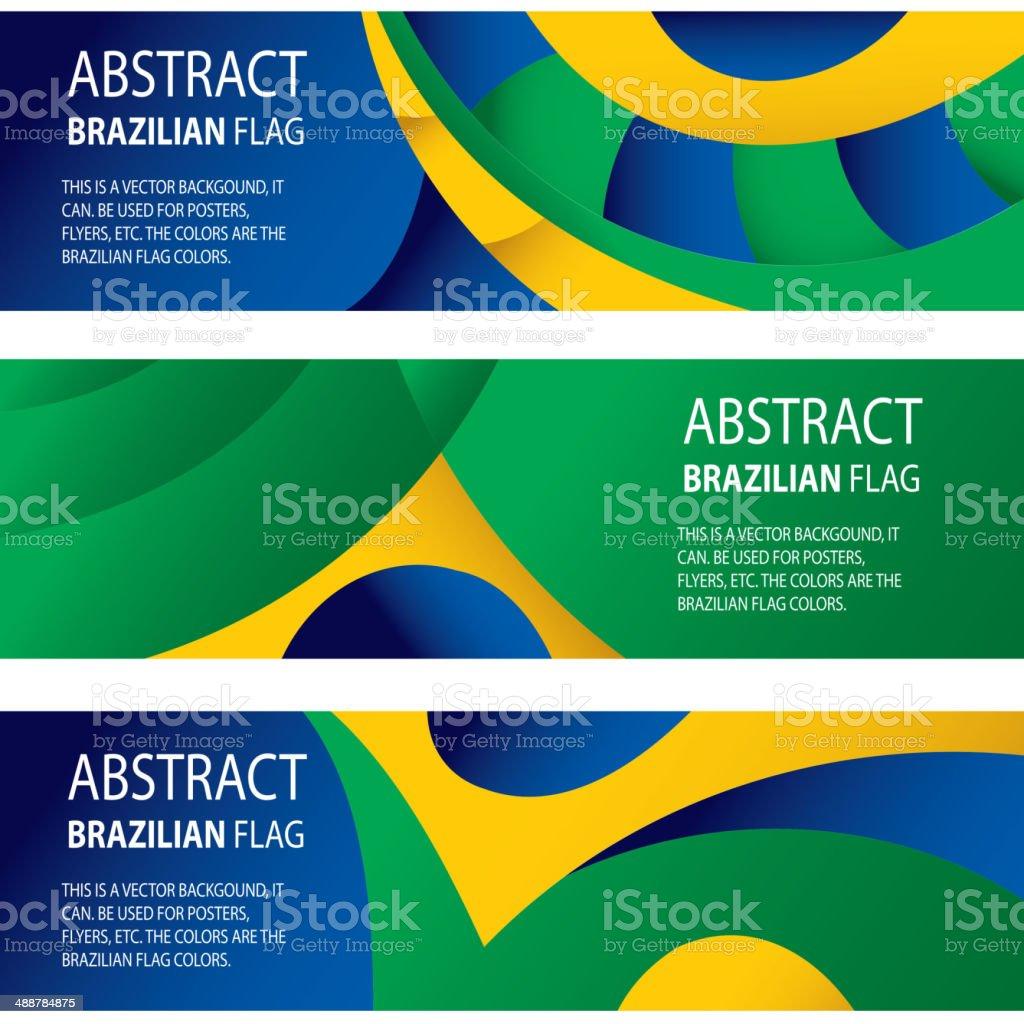 Abstract Brazil, brazilian Flag (vector Art) vector art illustration