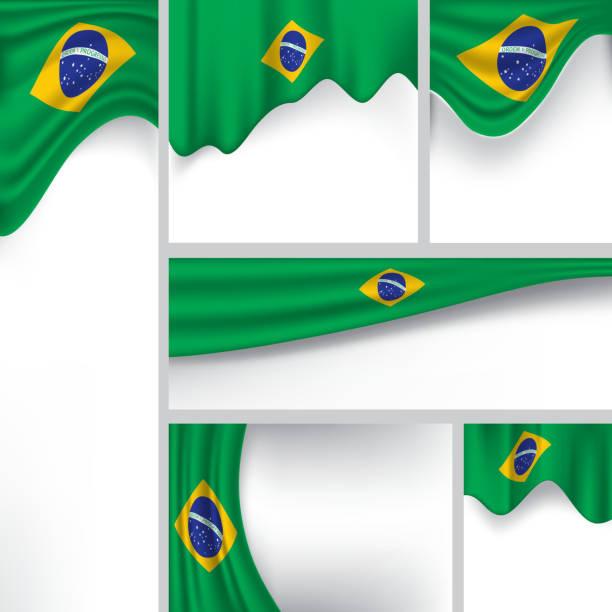 Drapeau abstrait du Brésil, Couleurs brésiliennes (Art Vector) - Illustration vectorielle
