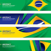 Abstract Brazilian Flag Background, Brazil Art(Vector Art)