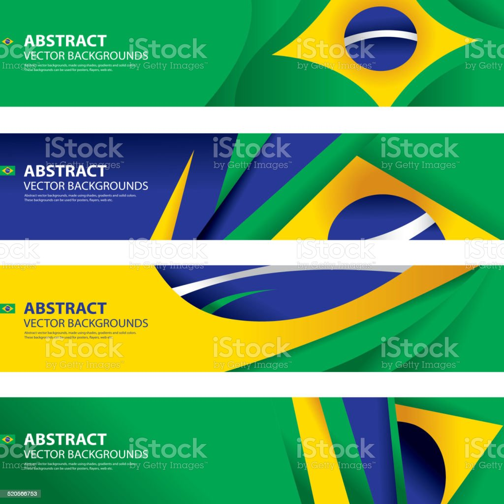 Abstract Brazilian Flag Background, Brazil Art(Vector Art) vector art illustration