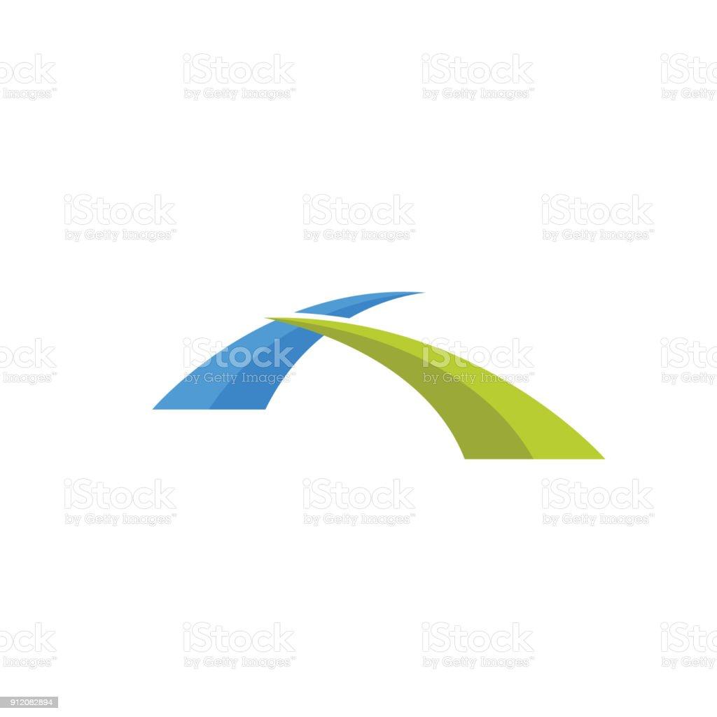 Abstract Bridge vector art illustration
