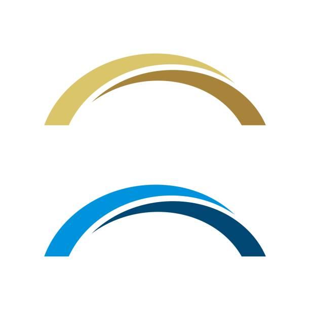 abstract bridge vector logo template illustration design. vector eps 10. - bridge stock illustrations