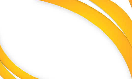 abstract bright blue and yellow curve business banner stock illustration