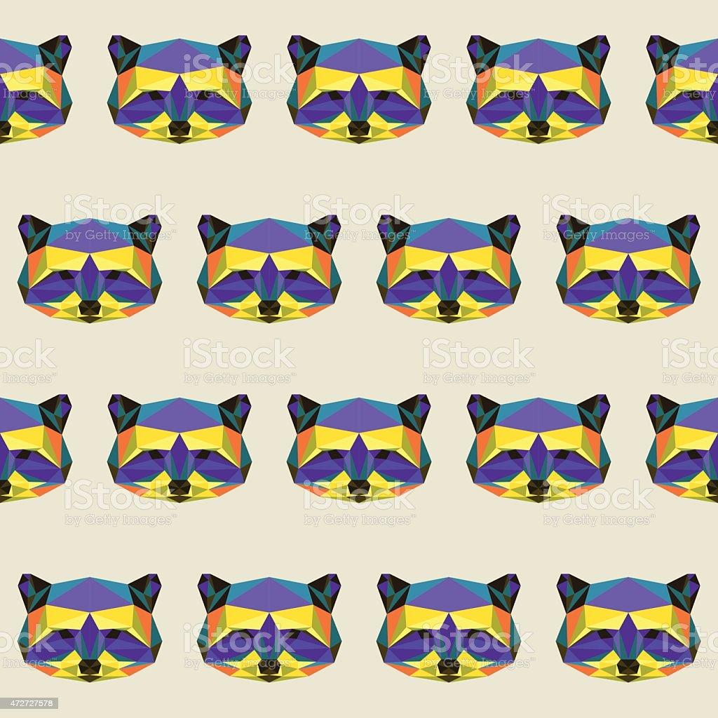 Abstract Polygonal Color Brillante Triangle Patrón Sin Costuras ...