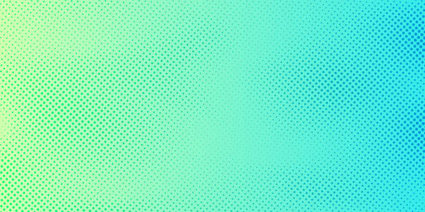 Abstract bright green and blue gradient color background with halftone pattern texture. Creative cover design template Abstract bright green and blue gradient color background with halftone pattern texture. Creative cover design template. Vector illustration high key stock illustrations