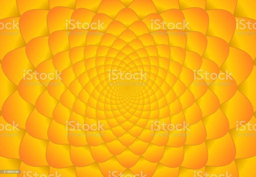 Abstract bright orange fibonacci background vector art illustration