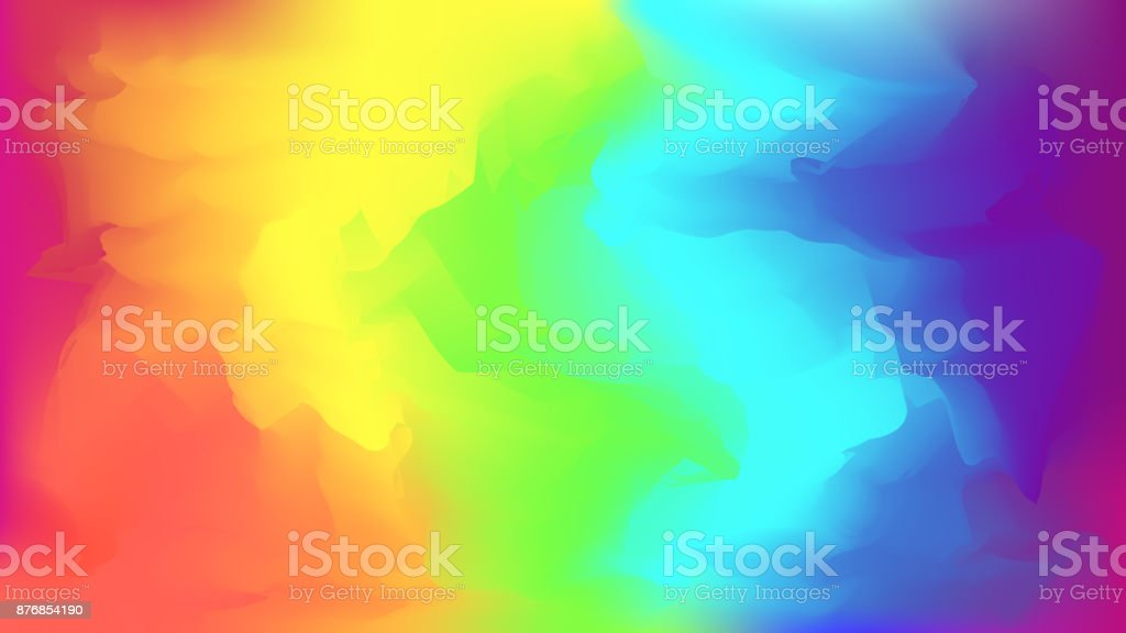 Abstract bright rainbow blurred background vector art illustration