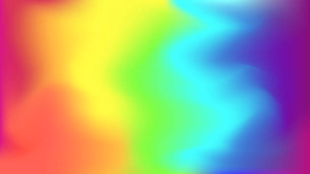 abstract bright rainbow blurred background - tęcza stock illustrations