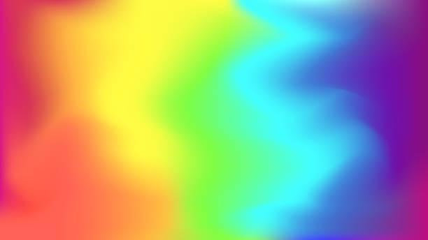 stockillustraties, clipart, cartoons en iconen met abstracte heldere regenboog achtergrond wazig - regenboog