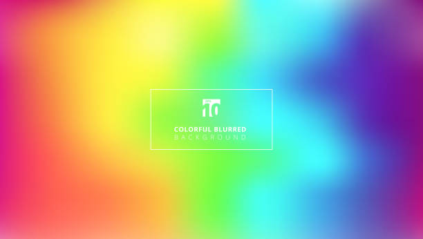 abstract bright rainbow color smooth blurred gradient mesh background. - tęcza stock illustrations