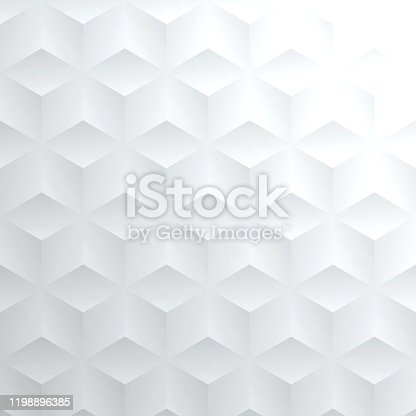 istock Abstract bright white background - Geometric texture 1198896385