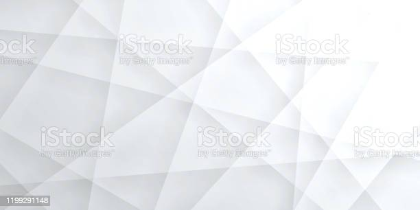 Abstract Bright White Background Geometric Texture Stock Illustration - Download Image Now