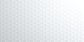 Modern and trendy abstract background. Geometric texture with seamless patterns for your design (colors used: white, gray). Vector Illustration (EPS10, well layered and grouped), wide format (2:1). Easy to edit, manipulate, resize or colorize.