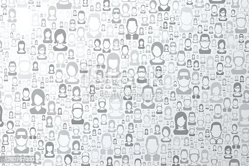 istock Abstract bright white background - People pattern 1262767030