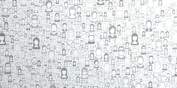 Abstract bright white background - People pattern