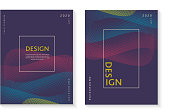 Vector illustration set of two vertical brochure cover template backgrounds with abstract and geometric shapes. Motion and modern backgrounds with vibrant colors. Can be used for annual reports, brochure cover designs, magazine, business, poster, flyer, leaflet and presentations. Template easy to customize design, with space for title, body copy and information.  Easy to edit, vector Illustration eps 10 with high resolution jpg. Easy to manipulate resize and colorize.