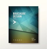 Abstract brochure cover design vector illustration