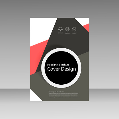 909923870 istock photo Abstract brochure design. Modern cover backgrounds. Vector template 861230892