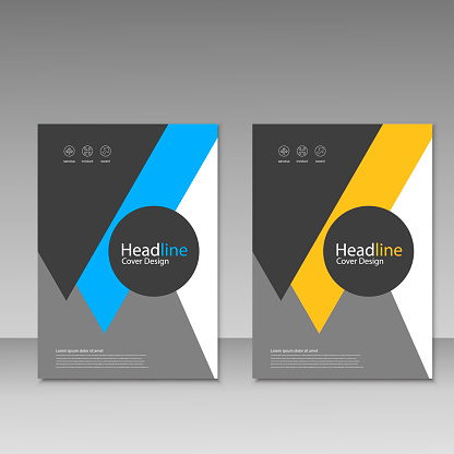 909923870 istock photo Abstract brochure design. Modern cover backgrounds. Vector template 941066212
