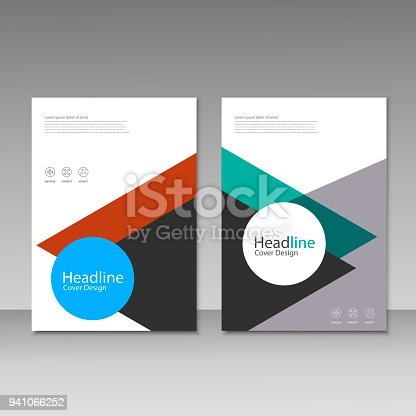 909923870istockphoto Abstract brochure design. Modern cover backgrounds. Vector template 941066252