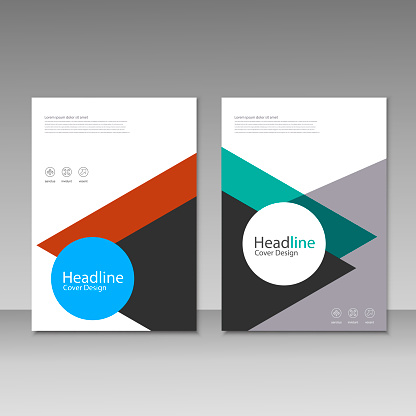 909923870 istock photo Abstract brochure design. Modern cover backgrounds. Vector template 941066252