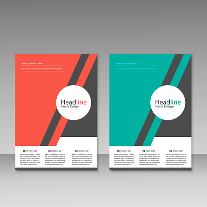 909923870 istock photo Abstract brochure design. Modern cover backgrounds. Vector template 941066290