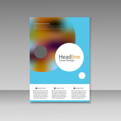 909923870 istock photo Abstract brochure design. Modern cover backgrounds. Vector template 941066322